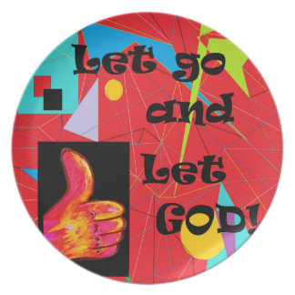 Let Go and Let God Party Plates