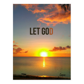Let Go and Let God, Saipan Sunset postcard