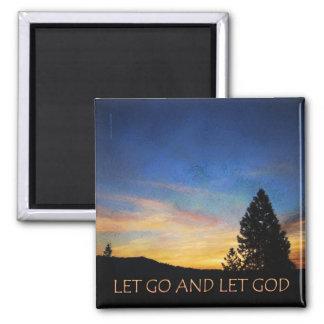 Let Go and Let God Sunrise Magnet