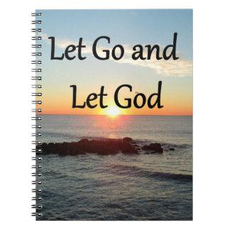 LET GO AND LET GONE SUNRISE DESIGN SPIRAL NOTEBOOKS