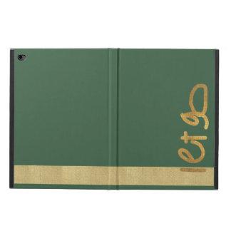 Let Go  Gold Tile iPad Case