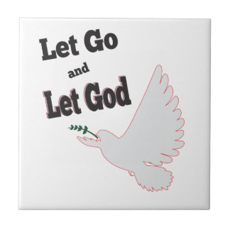 Let Go Let God Dove Recovery Tile