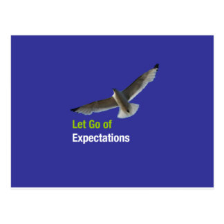 Let Go of Expectations Postcard