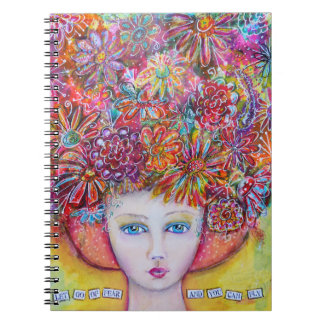 Let go of fear and you can fly spiral notebooks