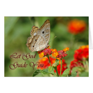 Let God Guide You Butterfly Card