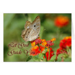 Let God Guide You Butterfly Greeting Card