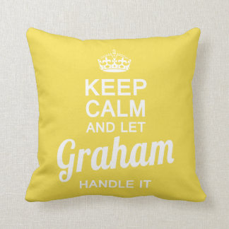 Let Graham handle it Throw Pillow