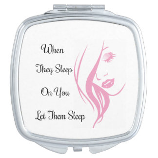 Let hem Sleep Square Compact Mirror