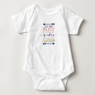 Let Her Sleep Baby Shower Gift Baby Bodysuit