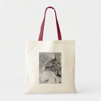 Let is snow  Kitty Cat Tote Bag