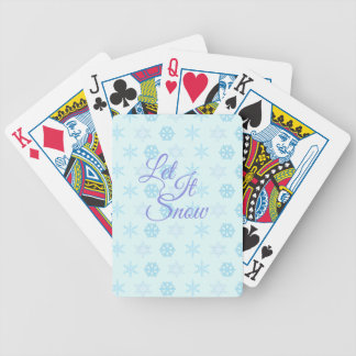 Let it be Snowy Christmas Bicycle Playing Cards