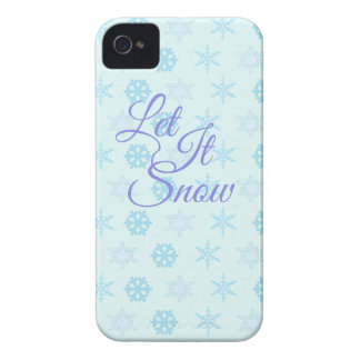 Let it be Snowy Christmas Case-Mate iPhone 4 Case