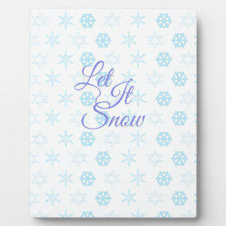 Let it be Snowy Christmas Plaque