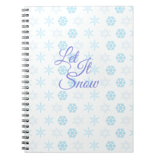 Let it be Snowy Christmas Spiral Notebook