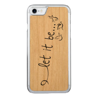 Let it be with doves - tattoo art carved iPhone 8/7 case