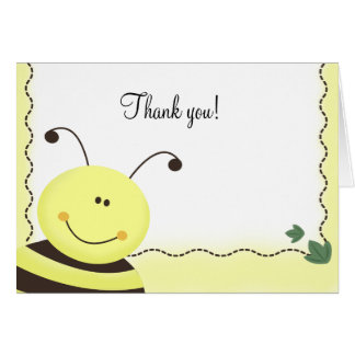 Let it Bee Bumble Bee Folded Thank you notes Card