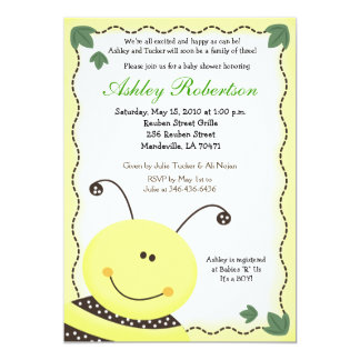 Let it BEE Bumblebee Baby Shower Invitation