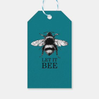 Let It Bee Vintage Nature Bumble Bee Gift Tags