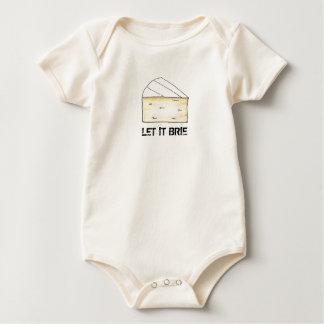 Let It Brie (Be) Cheese Wedge Foodie Food Baby Bodysuit