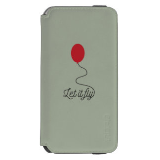 Let it fly balloon Ziw7l Incipio Watson™ iPhone 6 Wallet Case