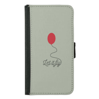 Let it fly balloon Ziw7l Samsung Galaxy S5 Wallet Case