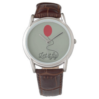 Let it fly balloon Ziw7l Wrist Watch