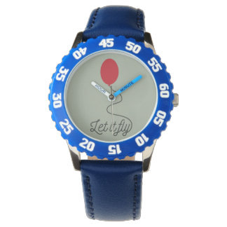 Let it fly balloon Ziw7l Wrist Watches