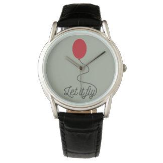 Let it fly balloon Ziw7l Wristwatch