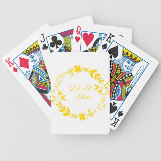 Let It Glow Bicycle Playing Cards
