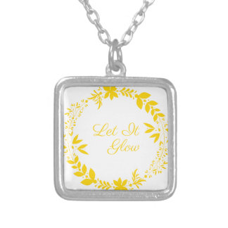 Let It Glow Silver Plated Necklace