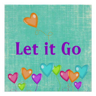 Let it Go Quote Poster