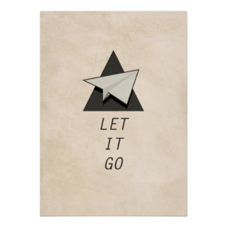 Let It Go Quotes Paper Planes Poster