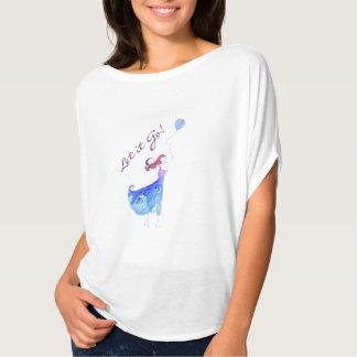 Let it Go Watercolor Women's Flowy Top