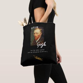 Let It Gogh Vincent Van Gogh Quote Saying Portrait Tote Bag