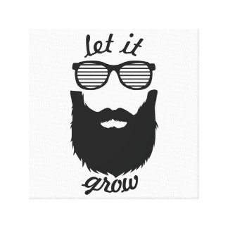 Let it grow canvas print