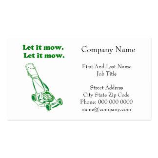 Let it Mow Movie Internet Meme Joke Pack Of Standard Business Cards