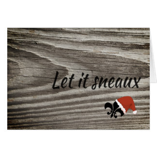 Let It Sneaux Louisiana Cajun Christmas Card