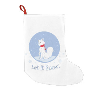 Let It Snow! (Arctic Fox) Small Christmas Stocking