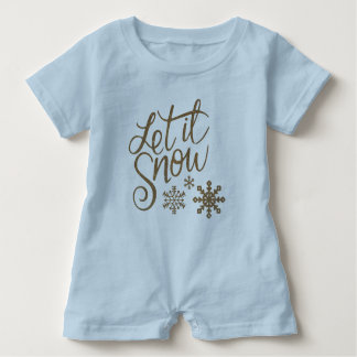 Let It Snow Baby Romper