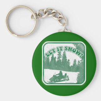 Let It Snow Basic Round Button Keychain