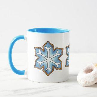 Let It Snow Blue Christmas Hanukkah Winter Holiday Mug