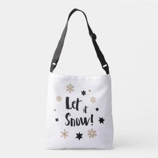 """Let it Snow!""  Calligraphy Christmas Crossbody Bag"