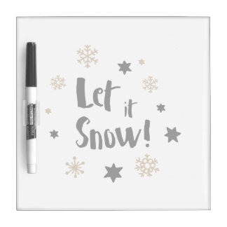 """""""Let it Snow!""""  Calligraphy Christmas Dry Erase Board"""