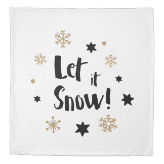 """""""Let it Snow!""""  Calligraphy Christmas Duvet Cover"""