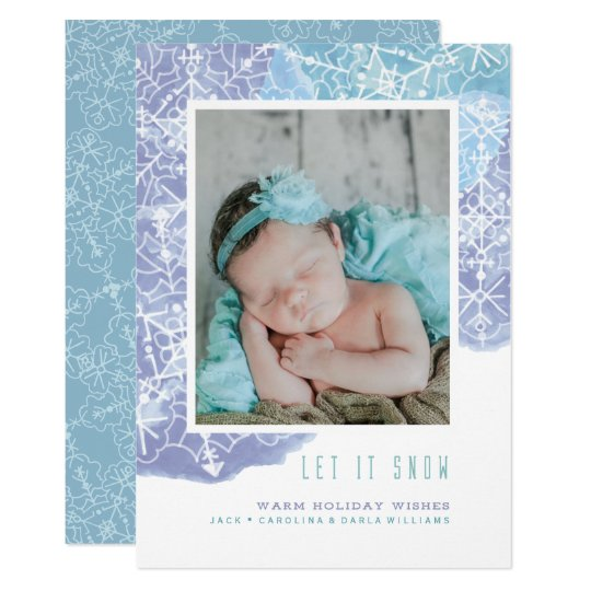 Let It Snow Card w/white envelope included
