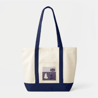 Let It Snow Cat Snowman Tote Bag