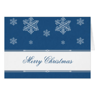 Let it Snow Christmas Greeting Card, Royal Blue Card