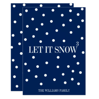Let It Snow Christmas Holiday Card