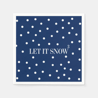 Let It Snow Christmas Holiday Paper Napkins