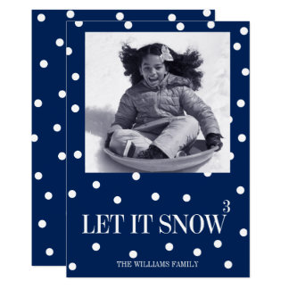 Let It Snow Christmas Holiday Photo Card